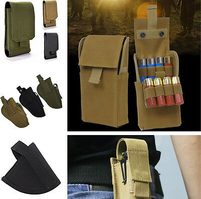 New 12G Ammo Holder Shotgun Sling Tactical Molle Round Reload Magazine Pouch