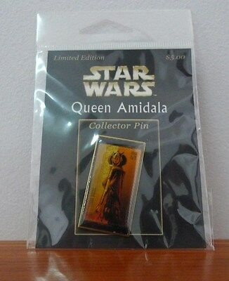 Star Wars Limited Edition Collector Pin Queen Amidala,new in packet.2007,u.s.a.