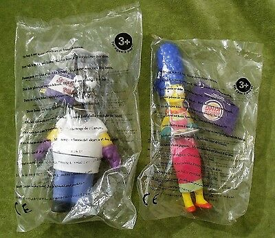 Homer Simpson Marge Simpson 2001 Burger King Toys Sealed - The Simpsons