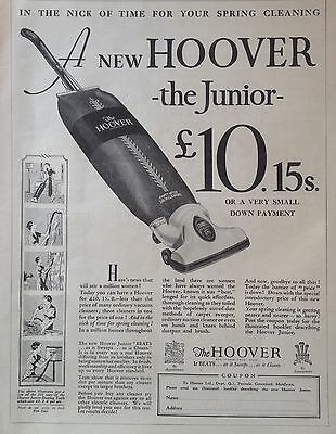 "Vintage Uk 1935 Ad(Uk5)~New Hoover ""junior"" Vacuum."