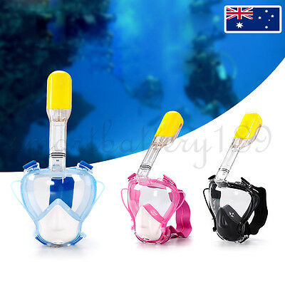 New Kids Full Face Snorkel Mask Diving Swim Goggles With Breather Pipe For GoPro
