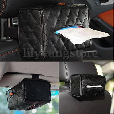 New PU Leather Tissue Box Cover Pumping Paper Hotel Car Home Napkin Holder Case