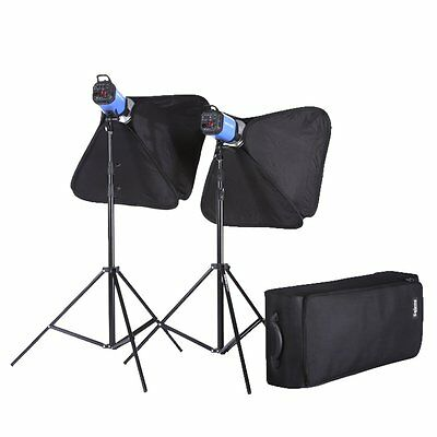 Photography 800W Strobe Studio Flash Light Kit Lighting Set (2 x 400W)