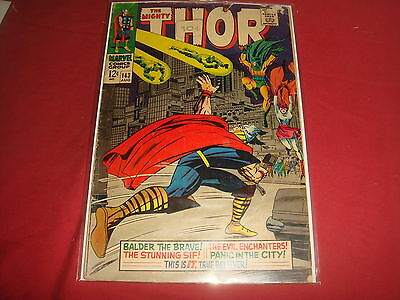 THE MIGHTY THOR #143  Jack Kirby Silver Age Marvel Comics 1967 VG