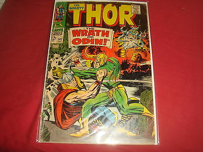 THE MIGHTY THOR #147  Jack Kirby Silver Age Marvel Comics 1967 VG-