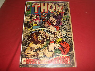 THE MIGHTY THOR #152  Jack Kirby Silver Age Marvel Comics 1968 VG