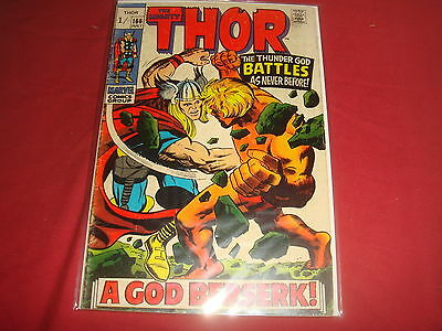 THE MIGHTY THOR #166  Jack Kirby Silver Age Marvel Comics 1968 VG