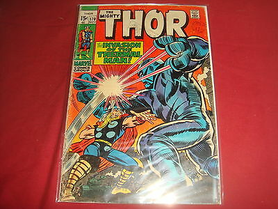 THE MIGHTY THOR #170  Jack Kirby Silver Age Marvel Comics 1968 VG-