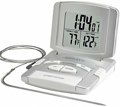 MeasuPro Instant Read Digital Oven, Meat And Cooking Thermometer With Timer,