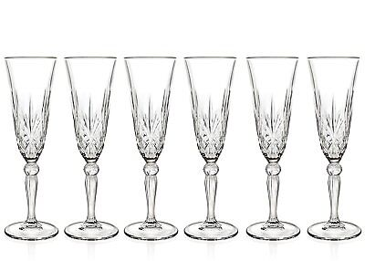 RCR Crystal Melodia Champagne Flutes, Set Of 6