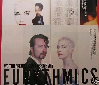 Eurythmics Annie Lennox Dave Stewart 1989 Clipping Japan Magazine Pg 10A 6Page