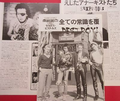 Sex Pistols Johnny Rotten Sid Vicious 1982 Clippings Japan Magazine Rs 10A 4Page