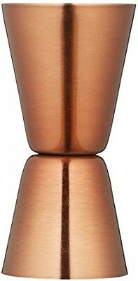 Bar Craft Luxe Lounge Stainless Steel Cocktail Jigger, Copper