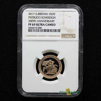 Great Britain - 2017 Proof Full Sovereign - NGC graded Proof 69 Ultra Cameo