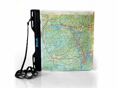 QUALITY SILVA CARRY DRY MAP CASE MEDIUM,A4 297X240mm WITH LANYARD WATERPROOF