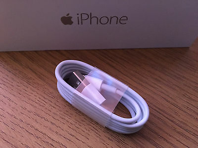 Genuine Official Apple Lightning USB Sync Charger Cable Lead for iPhone 5 5s 6