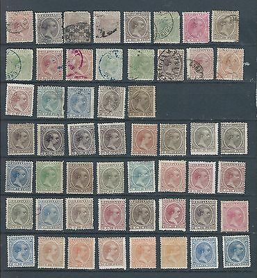 1877-1900 Spanish/portuguese Colonies/po Collection Of 53 Mint/ Vfu (1)