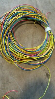 27MTR RUN x 4 of 6491X 2.5mm CONDUIT, TRUNKING CABLE. RED, BLUE, YELLOW, EARTH