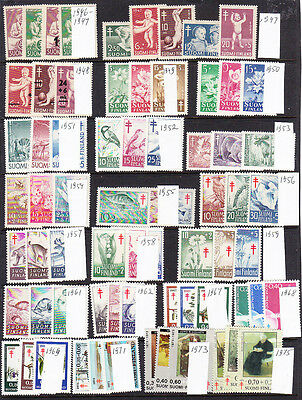 FINLAND Anti Tuberculosis  collection 1946-1975. MNH