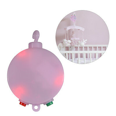 12 Melodies Baby Crib Mobile Bed Bell Toy Hanging Holder Music Box Pink TH602
