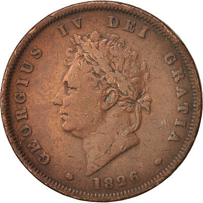 Great Britain, George IV, Penny, 1826, EF(40-45), Copper, KM:693