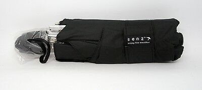 """Senz """"Smart S"""" Folding Umbrella in Black Out - New - Free Shipping"""