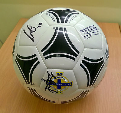 Northern Ireland SIGNED AUTOGRAPHED Football By Team - Adidas Tango Glider
