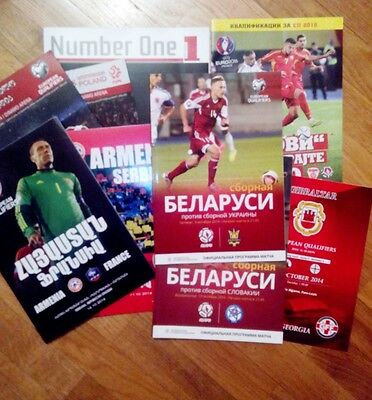 EURO-2016 Qualifiers & FRIENDLY 2014 - 2015 MATCH PROGRAMMES MANY DIFFERENT