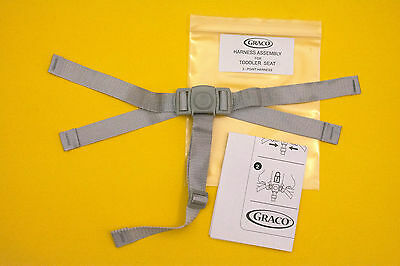 New GRACO TODDLER High Chair Seat Belt Strap 3pt Harness Replacement, Graco Made