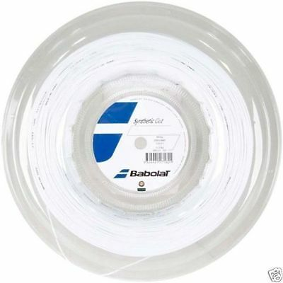 Babolat Synthetic Gut 17G 1.25mm (white) 660ft 200m Reel Tennis String