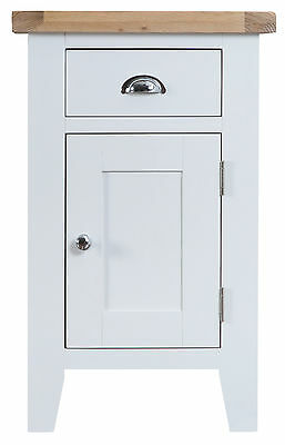 Hartwell White Painted Small Cupboard / Cabinet 50cm 35cm 80cm