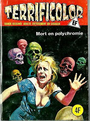 French 1970's Illustrated Erotic Digest Comic Terrificolor #61 Fine