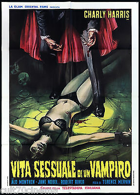 Vita Sessuale Di Un Vampiro Manifesto Cinema Sexy Horror Dracula Movie Poster 2F