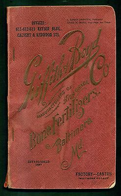 1922 Griffith & Boyd Co. High Grade Bone Fertilizers Booklet - Baltimore,MD