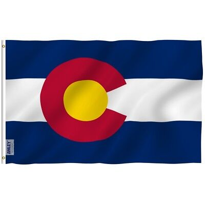 Anley Fly Breeze 3x5 Foot Colorado State Polyester Flag Colorado CO Flags
