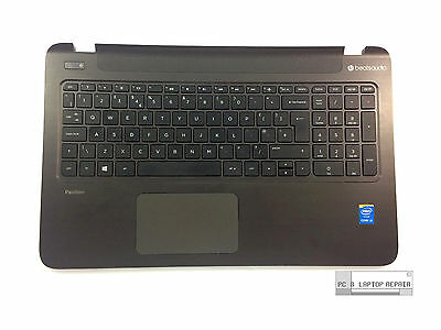 HP Pavilion 15-P OEM Laptop Palmrest Top Cover Touchpad UK Keyboard EAY1400301A
