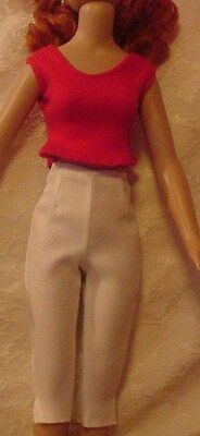 "White Capris & Red Blouse  4 18"" Kitty Collier or similar size dolls"