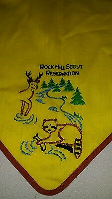 BSA Boy Scouts of America Rock Hill Scout Reservation Neckerchief Vintage Scarf