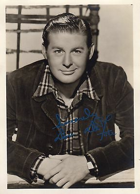 Vintage Signed Photograph Don De Fore American Actor