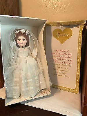 """Effanbee Of New York 18"""" Old Vienna Bride Doll In Box 18"""" Tall # 7859"""