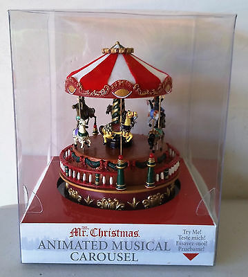 Mr Christmas Animated Musical Carousel Music Box 2011.................NEW IN BOX