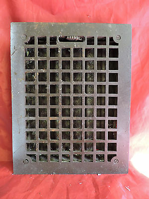 Antique Cast Iron Heating Grate Square Design 14 X 11 E