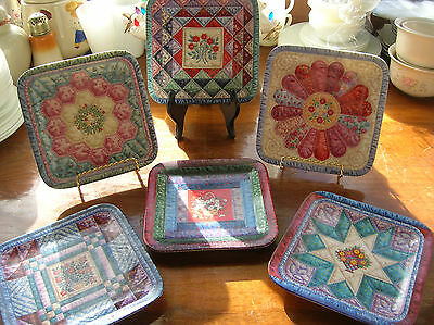 CHERISHED TRADITIONS Quilt Plate~Set of 6 ~ Mary Ann Lasher ~ Bradford Exchange