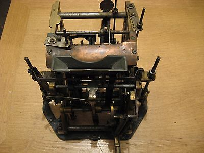 National Time Recorder Clocking In Clock Card Stamp Mechanism.