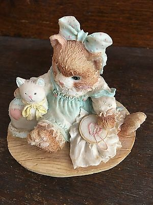 Enesco Calico Kittens Friendship is Sewn Stitch by Stitch 627933