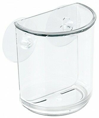 InterDesign Suction Storage Cup For Toothbrushes, Razors, Cosmetics, Hair -
