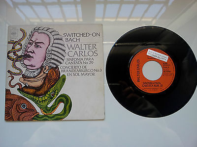 """Walter Carlos """"switched On Bach"""" Rare Spanish Promotional Gatefold 7"""" Vinyl"""