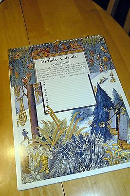 Vintage BIRTHDAY CALENDAR/Helen Cogswell Trostel/Colorado/Lovely/1997