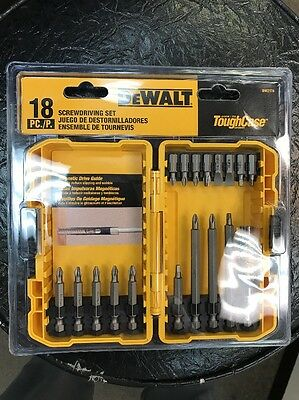 New Dw2174 Dewalt Screwdriver Bit Set 18Pc   New