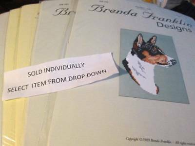 Brenda Franklin Designs Dog Cross Stitch CHART-DB Series- Breeds Starting With B